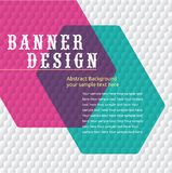 Colorful promotional banner design,vector illustration Stock Image