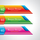 Colorful promotional banner design Royalty Free Stock Image