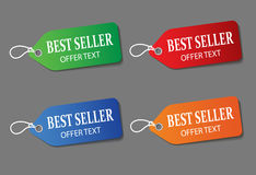 Colorful promotional labels set Stock Images