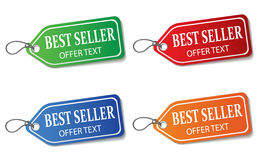 Colorful promotional labels set on white Royalty Free Stock Image