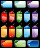 Colorful Promotional sales price labels Stock Photography