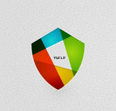 Colorful protection shield paper concept vector illustration