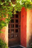 Colorful Provence house entrance door Royalty Free Stock Photography