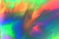 Colorful psychedelic abstract showing stress distribution. In plastic using polarized light royalty free stock photos