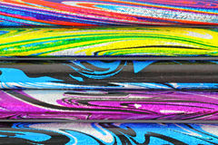 Colorful Psychedelic Lead Pencils Royalty Free Stock Images
