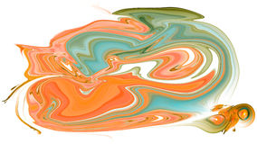 Colorful psychedelic liquefied background Royalty Free Stock Images
