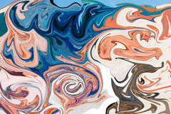 Colorful psychedelic liquefied background Royalty Free Stock Photos