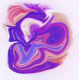Colorful psychedelic liquefied background Stock Photography