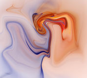 Colorful psychedelic liquefied background Stock Images