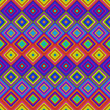 Colorful Psychedelic Pattern. Vibrant multicolored psy art backdrop Royalty Free Stock Images