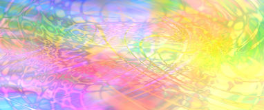 Colorful psychedelic website banner. Wide banner with vibrantly colored pattern reminiscent of the 60s 70s psychedelia art movement royalty free stock photos