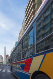 Colorful public bus in Buenos Aires Stock Photos