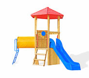 A colorful public playground Stock Photo