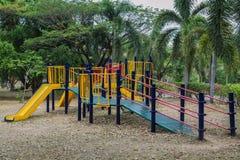 Colorful public playground Stock Image