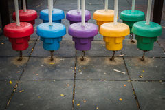 Colorful public playground Royalty Free Stock Photos