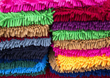 Colorful puffy carpet rug Stock Image