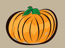 Colorful pumpkin illustration Stock Photos