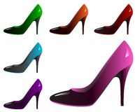 Colorful pumps Stock Photos