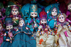 Colorful Puppet Dolls Royalty Free Stock Images