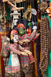 Colorful puppets on a market stall in Kathmandu, Nepal Stock Photos