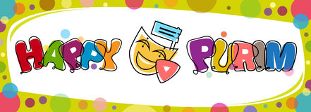 Colorful Purim Banner Royalty Free Stock Images