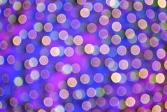 Colorful Purple Bokeh Stock Photography