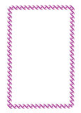 Colorful purple border frame Royalty Free Stock Images