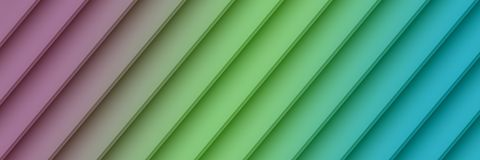 Colorful purple green blue geometric diagonal lines abstract banner wallpaper background royalty free stock image