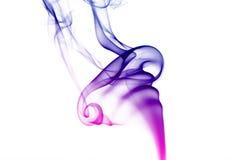 Colorful purple smoke Royalty Free Stock Photos