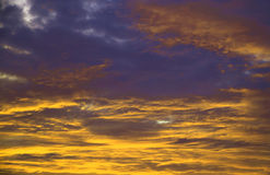 Colorful purple sunset Royalty Free Stock Photos
