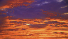 Colorful purple sunset Royalty Free Stock Photography