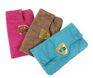 Colorful purses royalty free stock images