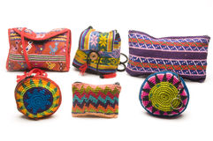 Colorful purses handbags central america Royalty Free Stock Photos