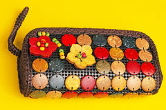 Colorful purses Stock Photos
