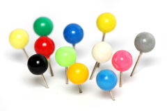 Colorful Push Pin stock photos