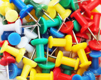 Colorful push pin background Royalty Free Stock Photography