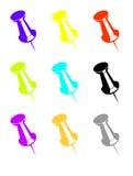 Colorful push pins stock illustration