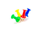 Colorful push pins Royalty Free Stock Image