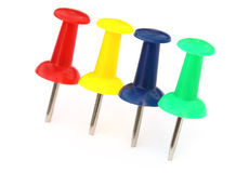 Colorful push pins Stock Photo