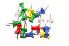 Colorful Push-pins Royalty Free Stock Photography