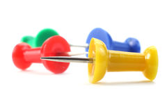 Colorful push pins Royalty Free Stock Images