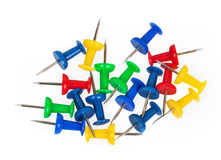 Colorful push pins Stock Image