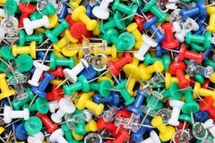 Colorful push pins Royalty Free Stock Image