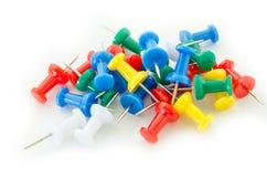 Colorful push pins. Royalty Free Stock Photo