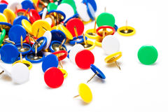 Colorful push pins Royalty Free Stock Photos