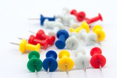 Colorful pushpins Stock Photography