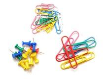 Pushpins and clip Stock Photo