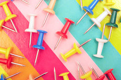 Colorful pushpins Royalty Free Stock Image