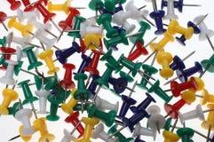 Colorful pushpins or pushneedles. Full framed colorful pushpins or pushneedles Royalty Free Stock Image