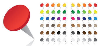 Colorful Pushpins - Vector Stock Images